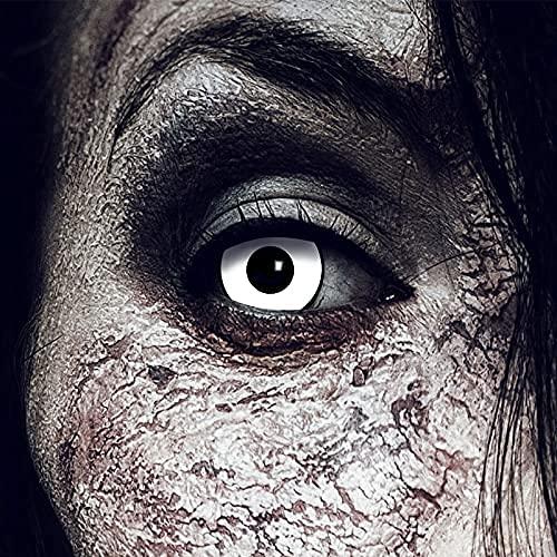 Farbige Kontaktlinsen Weiß/Schwarz'White Manson'...