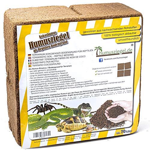 Humusziegel - Kokoseinstreu Bodensubstrat für...
