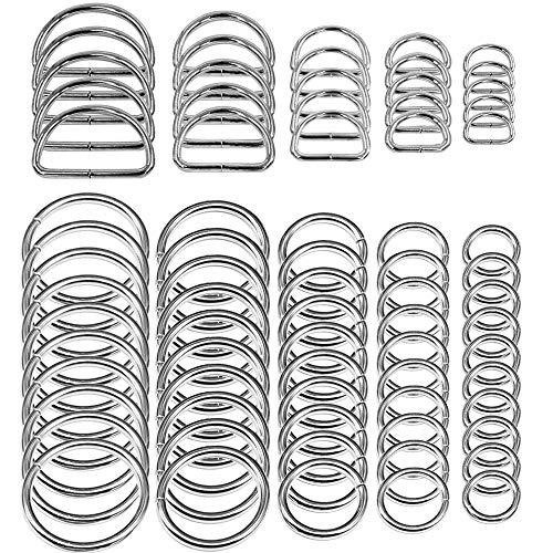 SENHAI 50 Stück Sortiert Splitter-O-Ring & 20...
