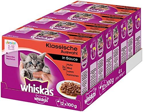 Whiskas Katzenfutter Junior – Klassische Auswahl...