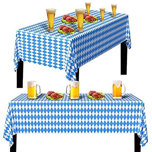 JOKILY Oktoberfest Tischtuch Bayrisch Blau...