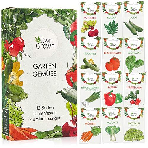 Gemüse Samen Set von OwnGrown, 12 Sorten Premium...