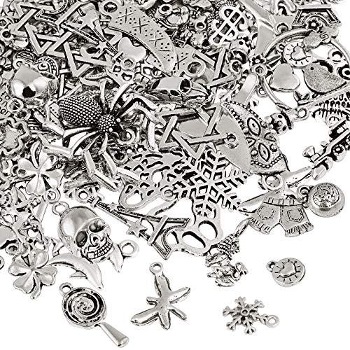 Naler 120 x Charms Anhänger Retro Antik Silber...