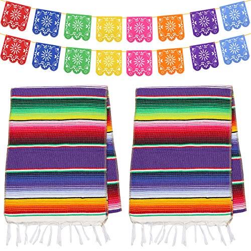 Dreamtop 2 Stück Mexikanischer Tischläufer...