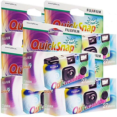 5x Fujifilm Quicksnap Flash Einwegkamera, 27...