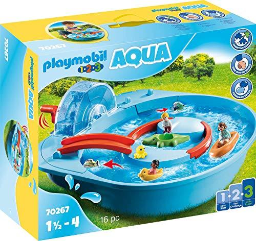 Playmobil 1.2.3 Aqua 70267 Fröhliche Wasserbahn,...