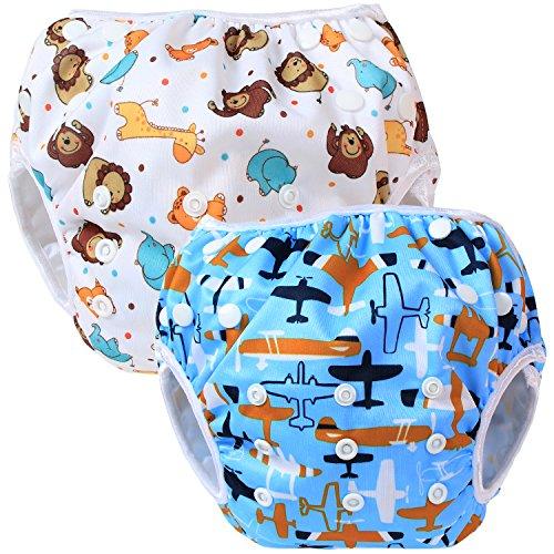 Teamoy 2-teilig Baby Schwimmhose Badewindelhose...