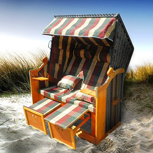 BRAST Strandkorb Deluxe 2-Sitzer XXL für 2...