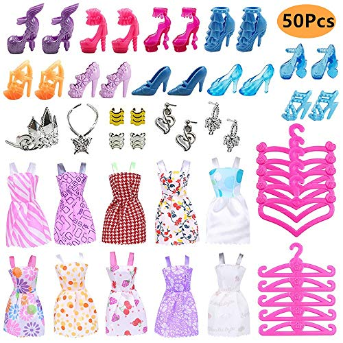 50PCS Kleidung Schuhe Zubehör Bundle für Barbie...