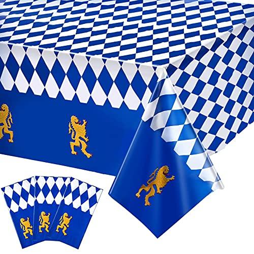 3 Stücke Plastik Bierfest Bayerische Flagge Check...