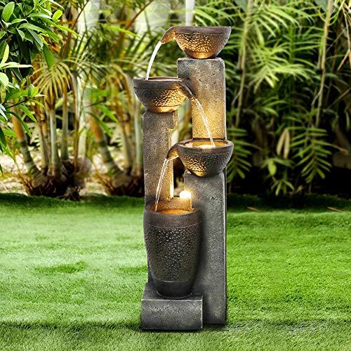 WATURE 101cm Gartenwasserspiel - Moderner Outdoor...
