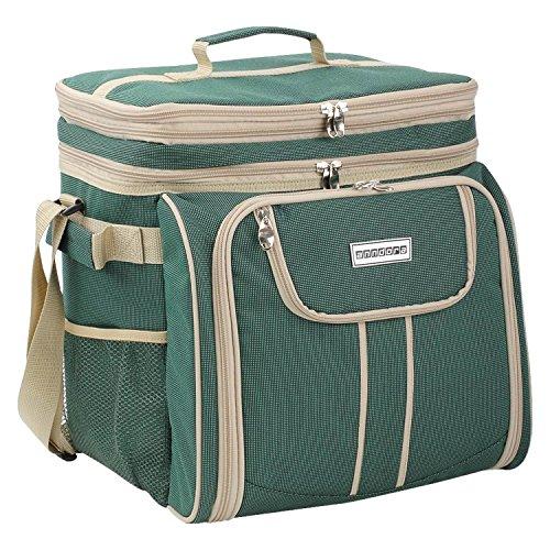 anndora Picknicktasche grün beige Kühltasche...