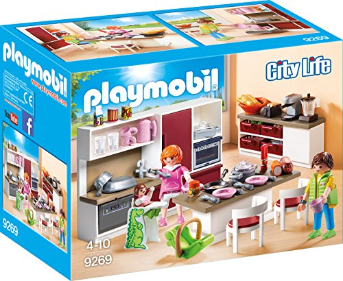 Playmobil City Life 9269 Große Familienküche, Ab...
