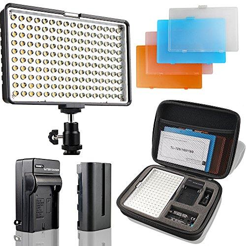 SAMTIAN LED Videoleuchte 160 LED Kamera Licht für...