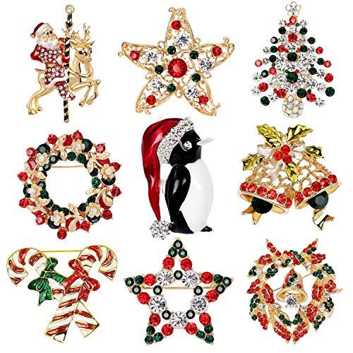 Petalum Weihnachtsdeko Brosche Weihnachtsbrosche...