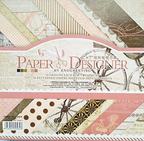 40 Blatt Scrapbooking Papier Gemustertes Karton...