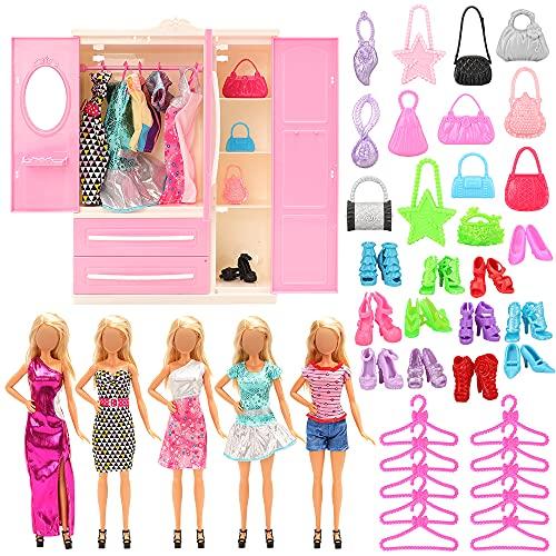 Miunana 36 PCS Kleiderschrank Möbel für Puppen =...
