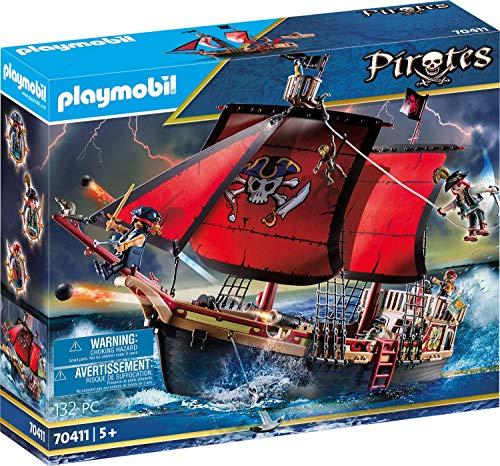 Playmobil Pirates 70411 Totenkopf-Kampfschiff, Ab...