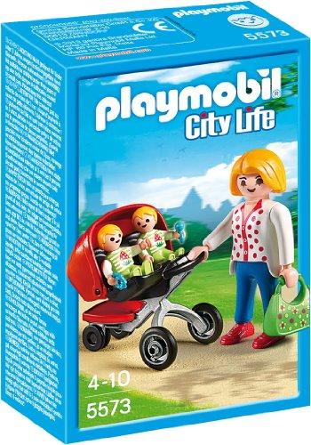 PLAYMOBIL City Life - 5573 Zwillingskinderwagen,...