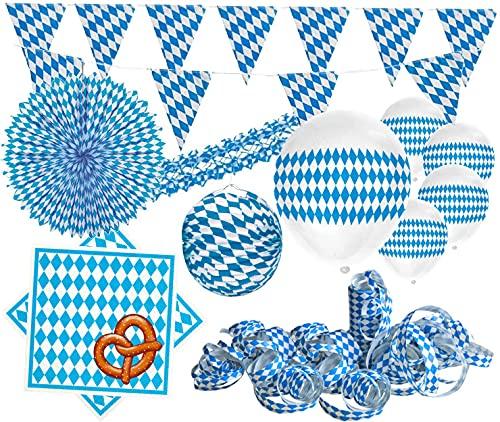 XXL Bavaria Party Deko Set Oktoberfest für bis zu...