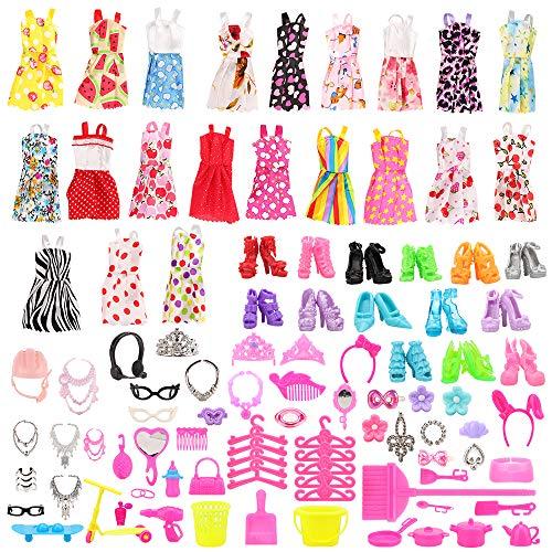 Miunana 120 Kleidung Zubehör für Puppen= 15...