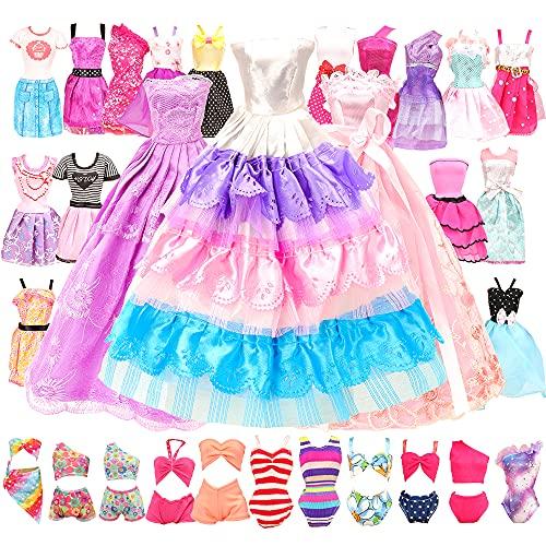 Miunana 16 Kleidung Zubehör für Puppen = 10...